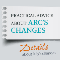 Last Minute Practical Advice about ARC's Changes t